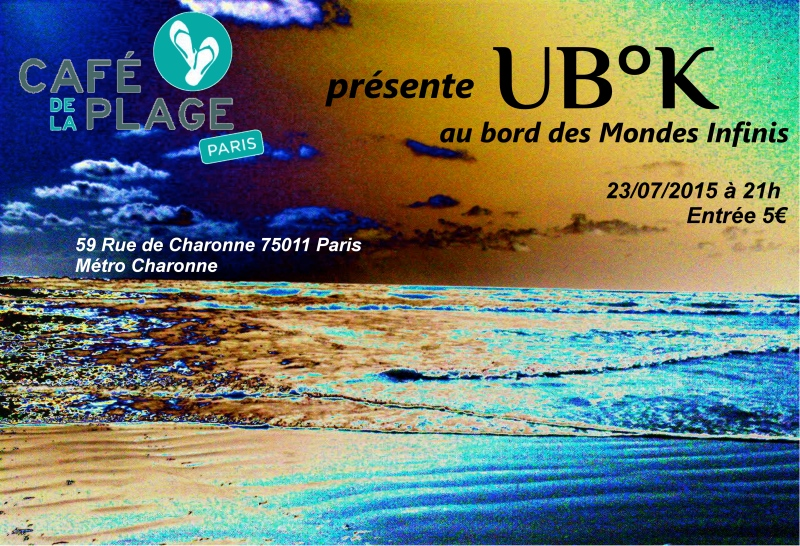 affiche Cafe de la plage Juillet