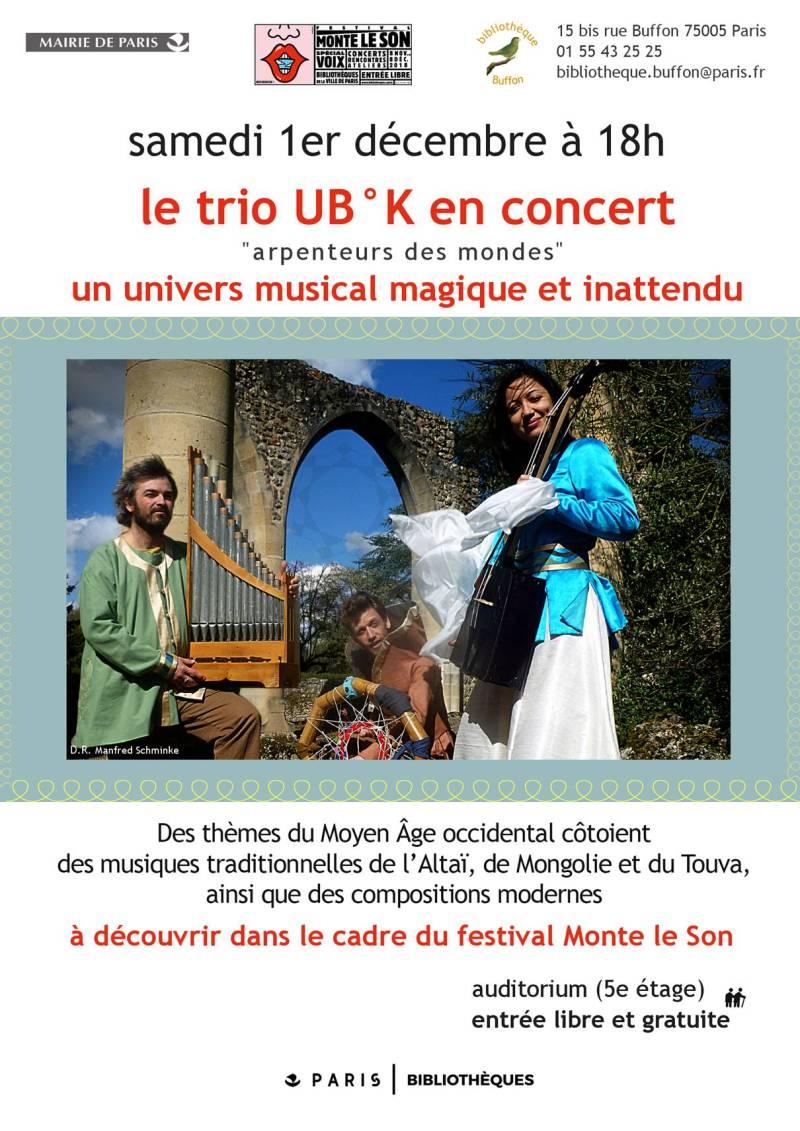 affiche UB°K Monte le son